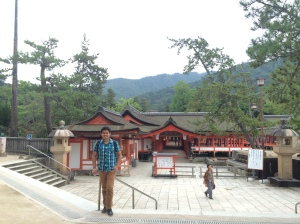 In front of the Itsukushima Shrine