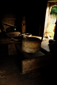 Inside the cogon house