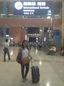 Ariane and I arrived at Kansai International Airport.